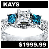 Kays 1 CT Blue Diamond Princess Cut Engagement Ring!