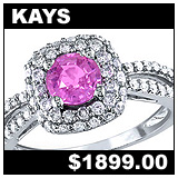 Kay Jewelers Pink Sapphire and Diamond Engagement Ring!