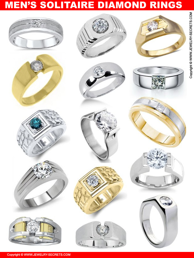 Men S Solitaire Diamond Rings Jewelry Secrets