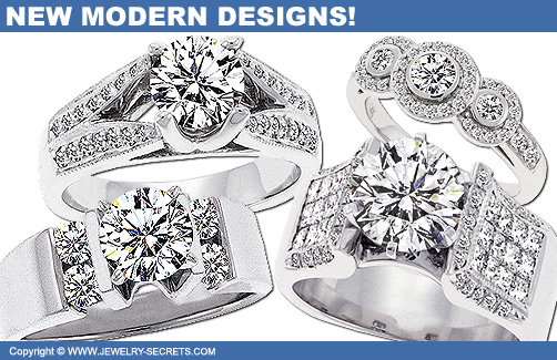 Fresh, New, Modern Engagement Ring Designs!