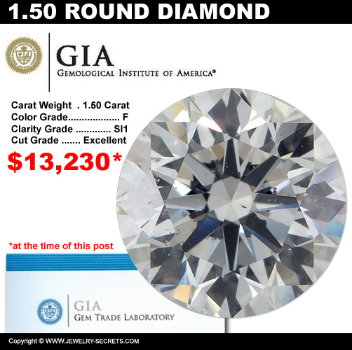 1.50 Carat Loose Certified Diamond Sale!