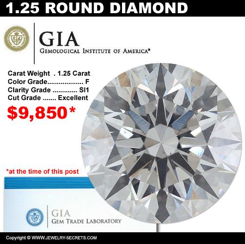 1.25 Carat Loose Certified Diamond Sale!