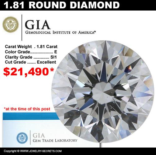 1.81 Carat Loose Certified Diamond Sale!