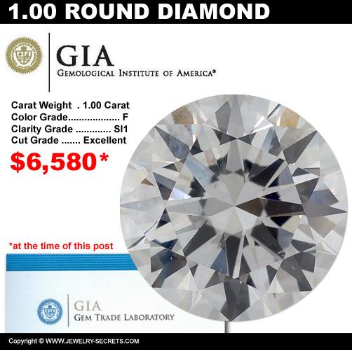 1.00 Carat Loose Certified Diamond Sale!