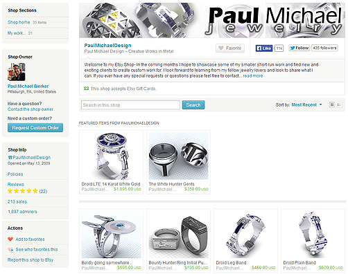 Paul Michael Design on Etsy!