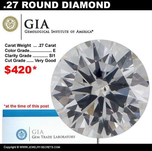 .25 Carat Loose Certified Diamond Sale!