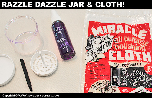 Razzle Dazzle Jewelry Jar and Miracle Cleaning Cloth!