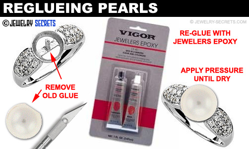 Reglueing Pearls in Jewelry and Rings!