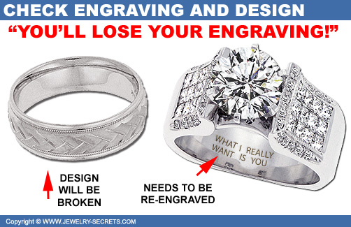 Ring Engraving will be Lost!