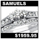 Samuel Jewelers 1/2 Carat Diamond Wedding Set!