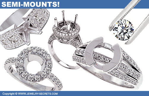 Semi-Mount Rings with no Center Stone!