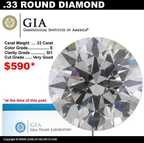 .33 Carat Loose Certified Diamond Sale!