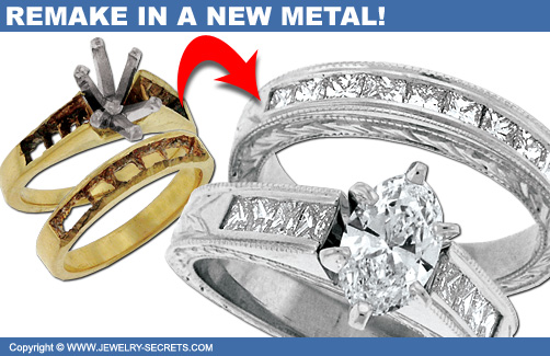 Turn your Yellow Gold Ring into White Gold!