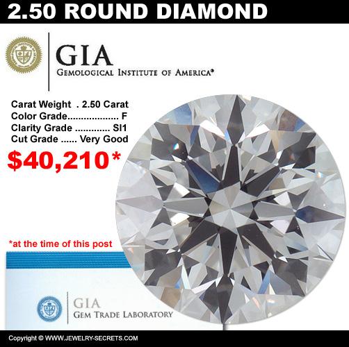 2.50 Carat Loose Certified Diamond Sale!