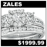 Zales 1 Carat Diamond Bridal Set!