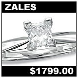 Zales Jewelers 5/8 Carat Diamond Solitaire Ring!