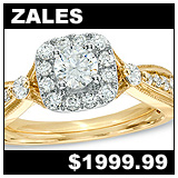 Zales 7/8 CTW Diamond Square Frame Vintage Style Engagement Ring!