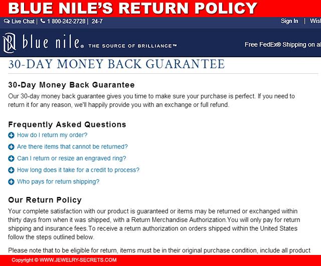 Blue Niles Return Policy