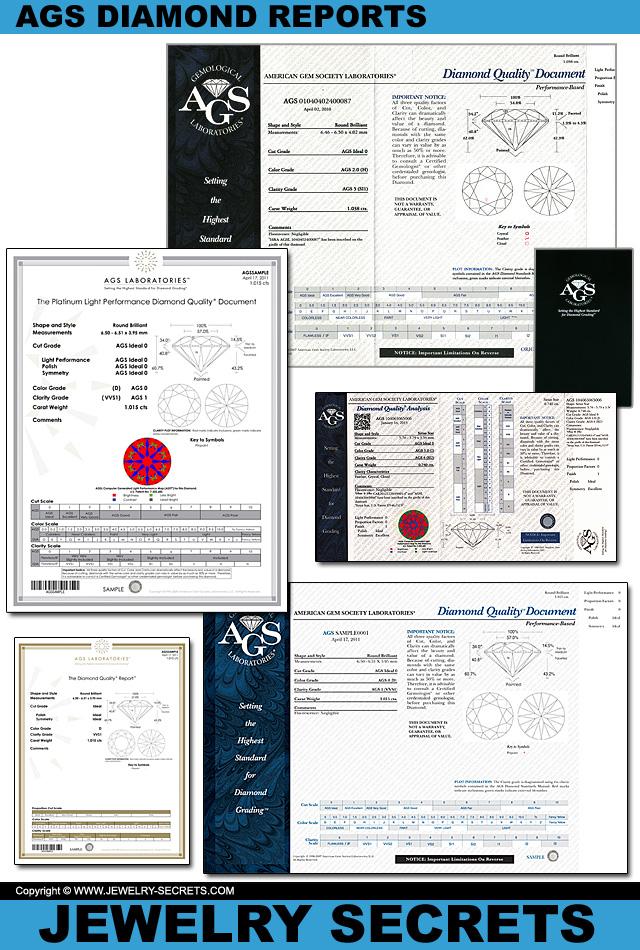 Genuine AGS Diamond Reports