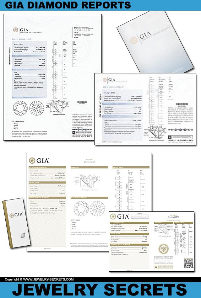 Genuine GIA Diamond Grading Reports