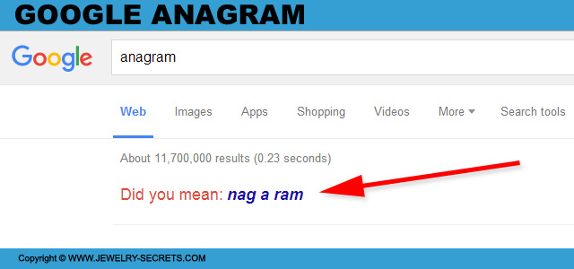 Google Anagram Search