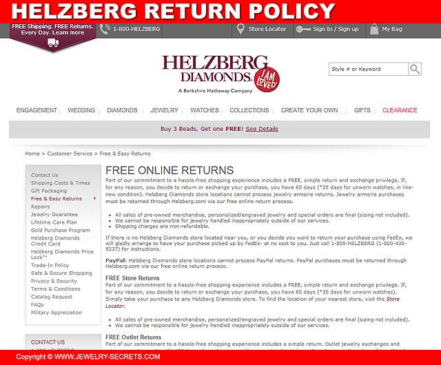 Helzberg Diamonds Return Policy