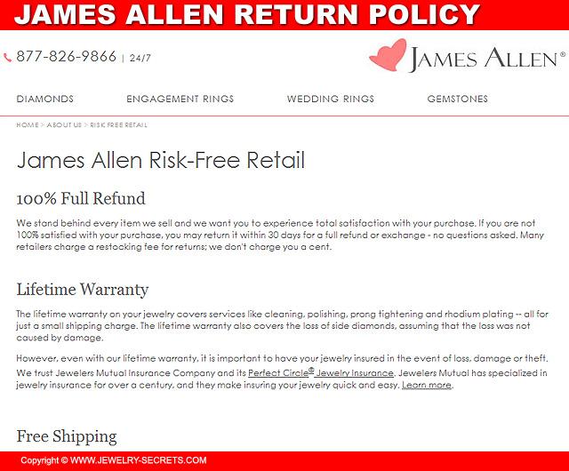 James Allen's Return Policy