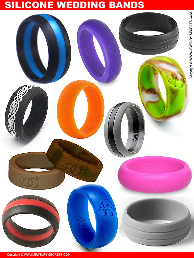 SILICONE WEDDING RINGS FOR THE ACTIVE LIFESTYLE Jewelry Secrets