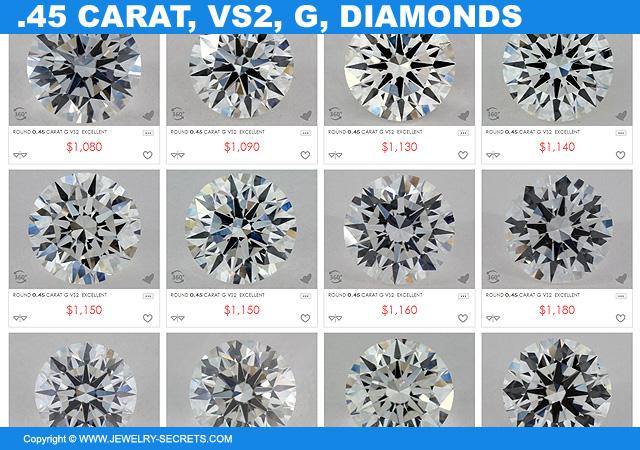 45 Point VS2 G Diamonds