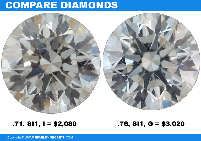 Compare Diamonds A Thousand Dollars Difference