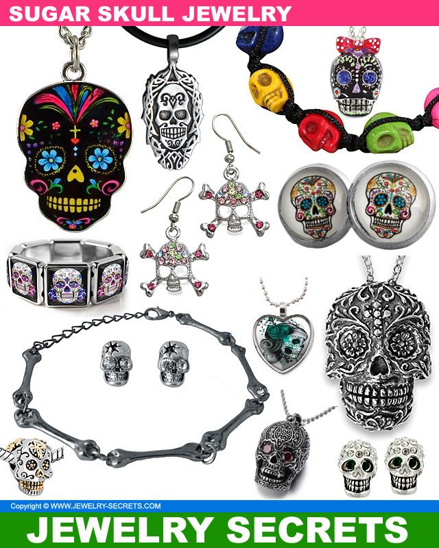 Creepy Cool Sugar Skull Jewelry