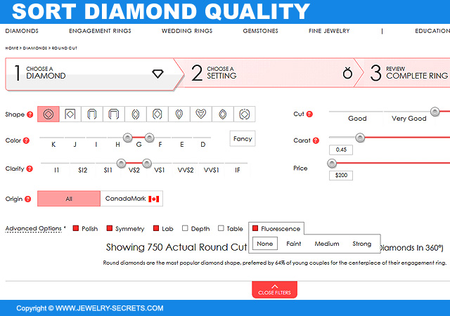 Sort And Compare Diamond Quality At James Allen