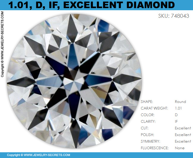 101 D IF Excellent Cut Round Certified Diamond