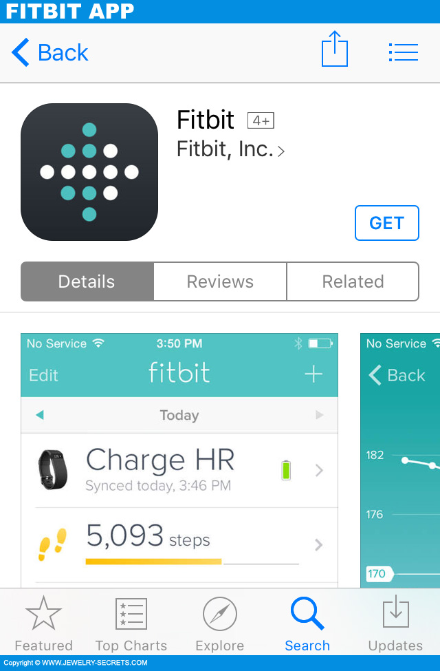 fitbit app for iphone fitbit charge hr review jewelry secrets 5072