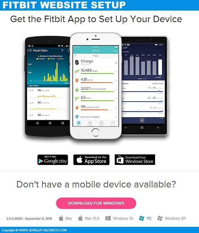 Fitbit Website Setup