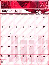Free July 2016 Calendar!