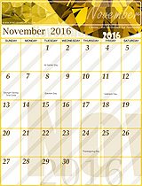 Free November 2016 Calendar!