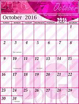 Free October 2016 Calendar!
