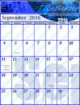 Free September 2016 Calendar!