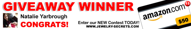 Jewelry Giveaway 15 Winner