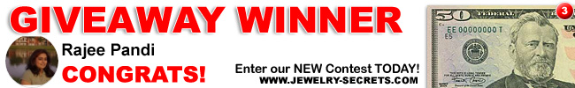Jewelry Giveaway 3 Winner