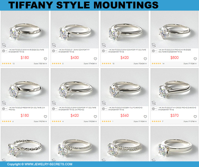 Tiffany Style Mountings