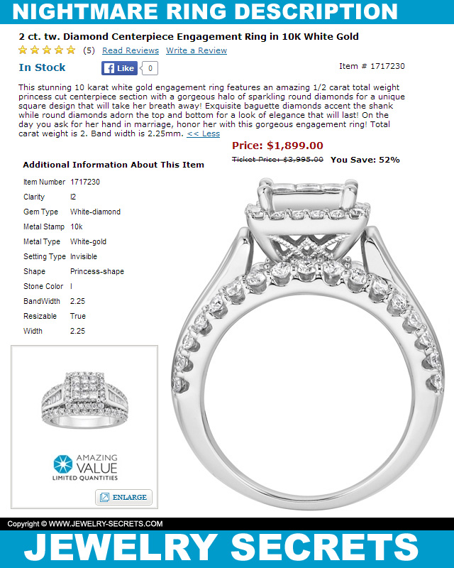 This ring will be a nightmare jewelry secrets for Wedding ring descriptions