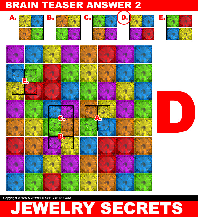 Jewelry Brain Teaser Puzzle Answer 2