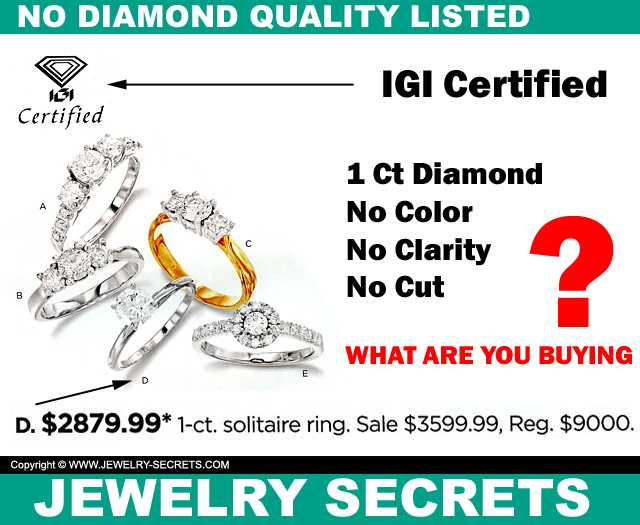 No Diamond Quality Listed In Catalog