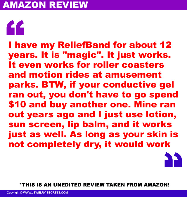 Reliefband Motion Sickness Review 1