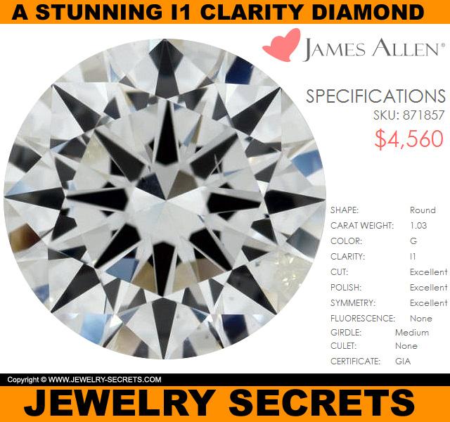 A Stunning I1 Clarity Diamond