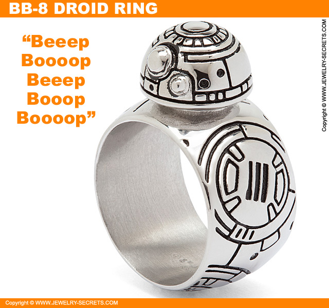 BB-8 Stainless Steel Droid Ring