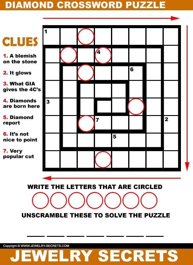 Diamond Crossword Puzzle