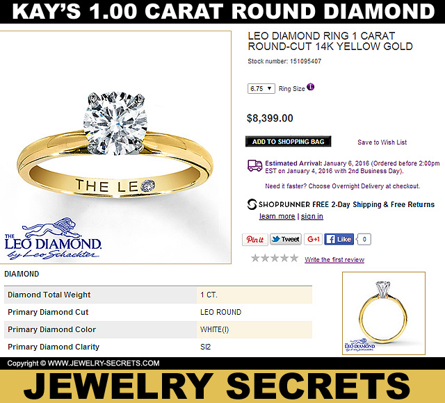Kay Jewelers 1 Carat Round Diamond